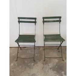 Paire de chaises de jardin