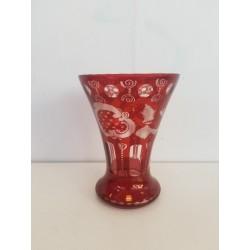 Vase cristal de bohème